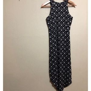 EUC Free People Metallic Floral Fitted Dress